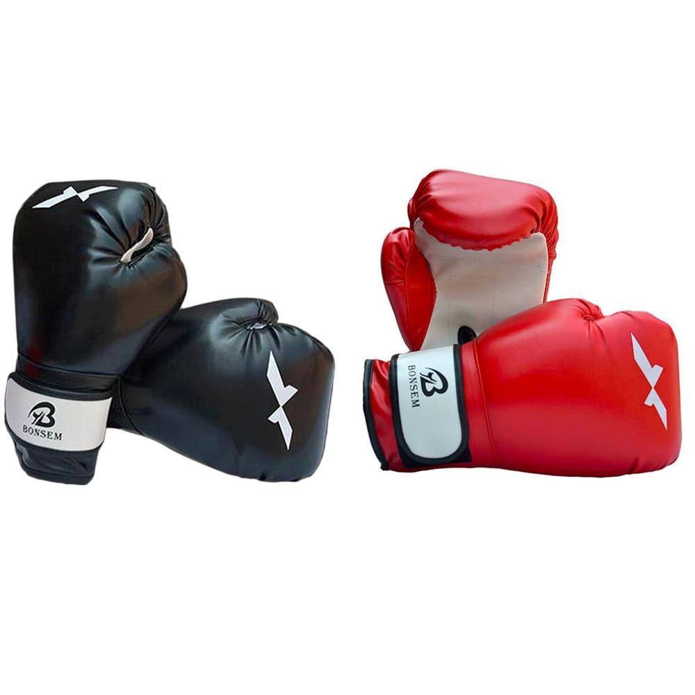 1 páros edzés ökölvívó kesztyű Új stílusú bokszkesztyű Sanda karate homokzsák Taekwondo harci kézvédő kesztyű
