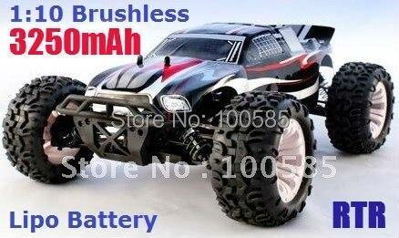1/10 масштаб 4WD бесщеточный монстр грузовик, 7,4 V 3250mAh Lipo батарея