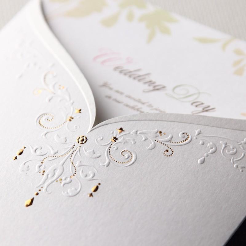Personalized Design Laser Cut Wedding Invitations Creative Elegant ...