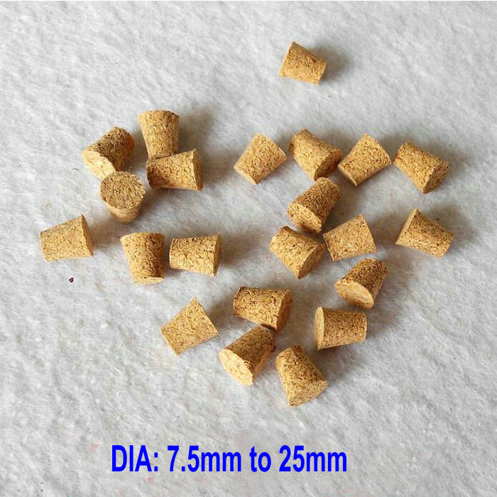 Top Dia. 7.5mm To 25mm Cork Stopper Wooden Caps Fit For Various Test Tube, Different Size Available Famous For High Quality Raw Materials, Full Range Of Specifications And Sizes, And Great Variety Of Designs And Colors