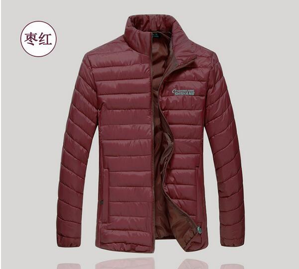 Kış Aşağı Pamuk Ceket Erkekler Ince Moda Kalın Sıcak Aşağı Parka Erkekler Ceket Palto Standı Yaka Pamuk Erkek Rahat Ceket