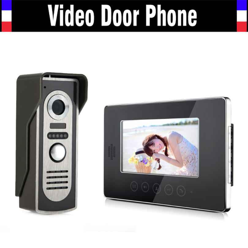 New 7 Inch Door Phone Doorbell Intercom System Video Intercom Video Doorphone Kit Alloy night vision Camera Video Intercom 7 inch tft touch screen lcd color video door phone doorbell wall mounted intercom system night vision eye camera doorphone