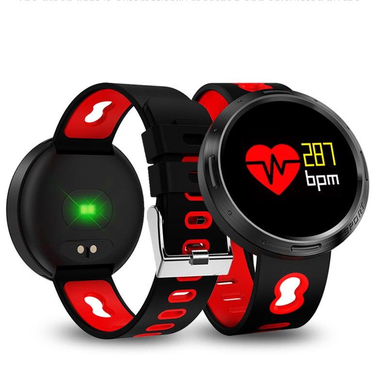 Moniteur de Fréquence cardiaque Montre Smart Watch Bracelet Bracelet Fitness Sang Pression De Bain Tactile LED Podomètre Wrist Band Intelligente Sport Montre