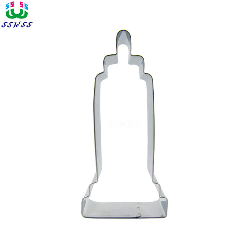 Skyscraper Shaped Cake Cookie Biscuit Baking Molds,Architectural Memorial Cake Decorating Fondant Cutters Tools,Direct Selling