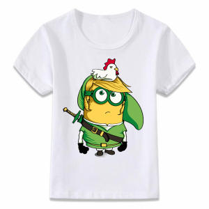 Kids Minion-Link T-Shirt Zelda Legend Girls Boys The of for And Toddler Tee Oal282