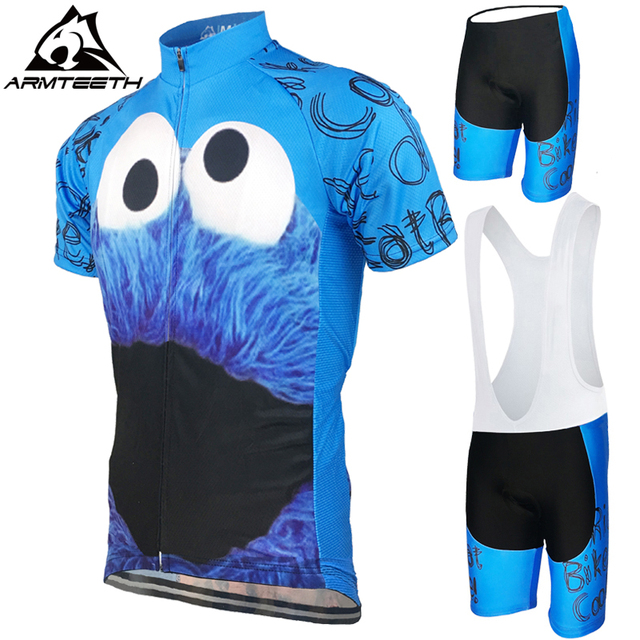 6fb2efdd4 Hot Sale Mens Cycling Jersey Summer Mtb Short Anti-sweat Bicycle Clothing  Quick Dry Breathabl Jerseys Cookie Monster Size XS-4XL