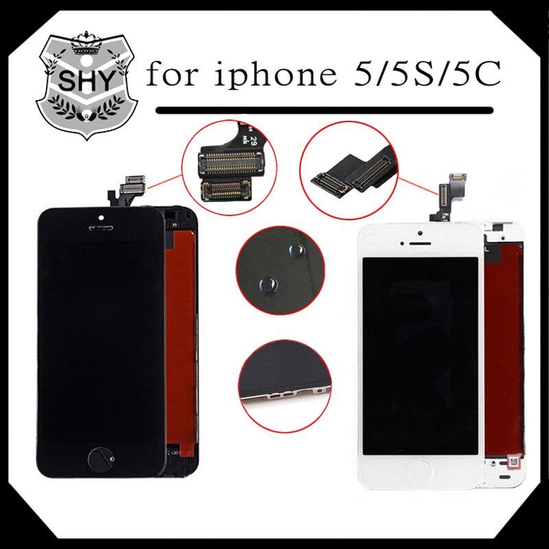 Grado aaa calidad de pantalla del lcd del teléfono móvil para apple iphone 5 5s