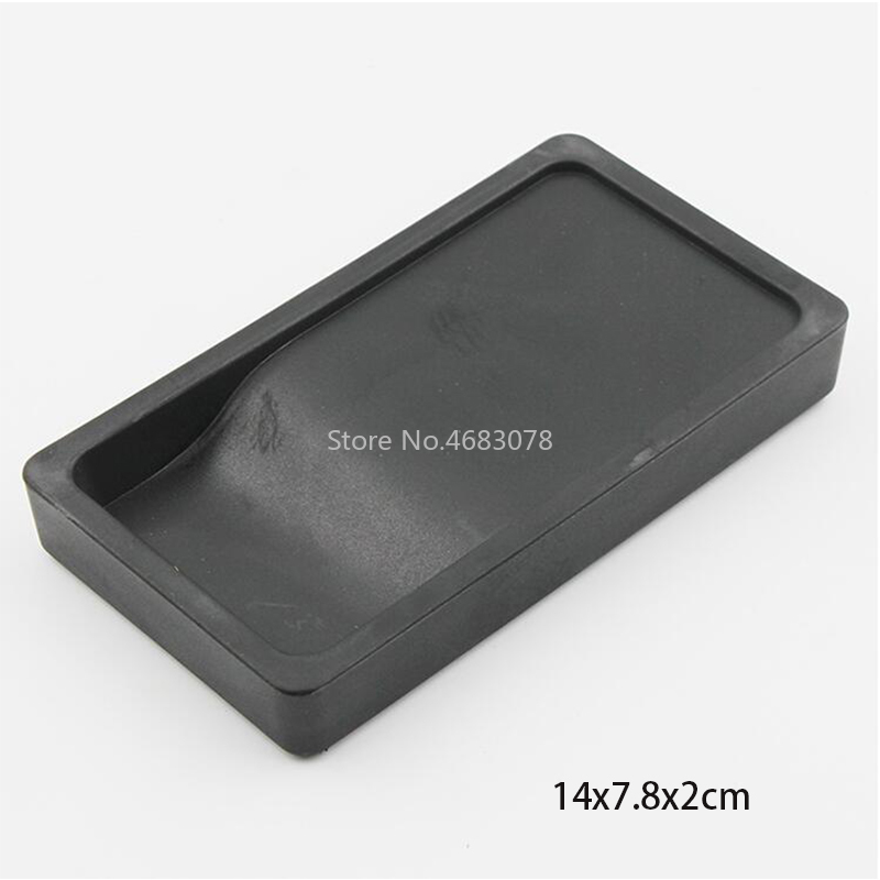 1pcs 14x7.8x2cm Plastic Lightweight Portable Inkslab Platform Does Not Damage Safe And Durable Brush Calligraphy Supplies