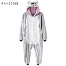 f0cd2e6b32c Dier Koala Cosplay Leuke Kostuum Flanel Grijs Kigurumi Onesie Mannen  Vrouwen Adult Fancy Winter Slaap Pak Zachte Warme Pyjama Ou.