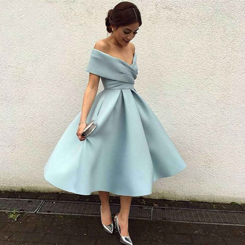 New Arrival Prom Party Evening Dresses Vestido De Noiva Sereia Gown Boat Neck Robe De Soiree Prom Party Satin Pleat Multicolour