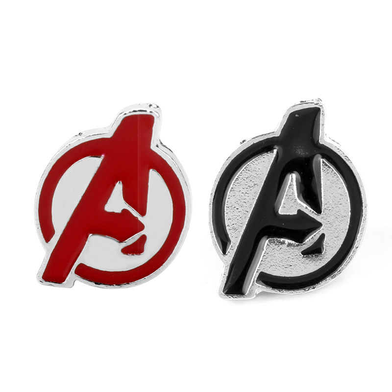 Movie Jewelry Marvel Comics Fashion The Avengers A Logo Pin Badge Enamel Metal Brooch For Men Women Fans Gift-40 image