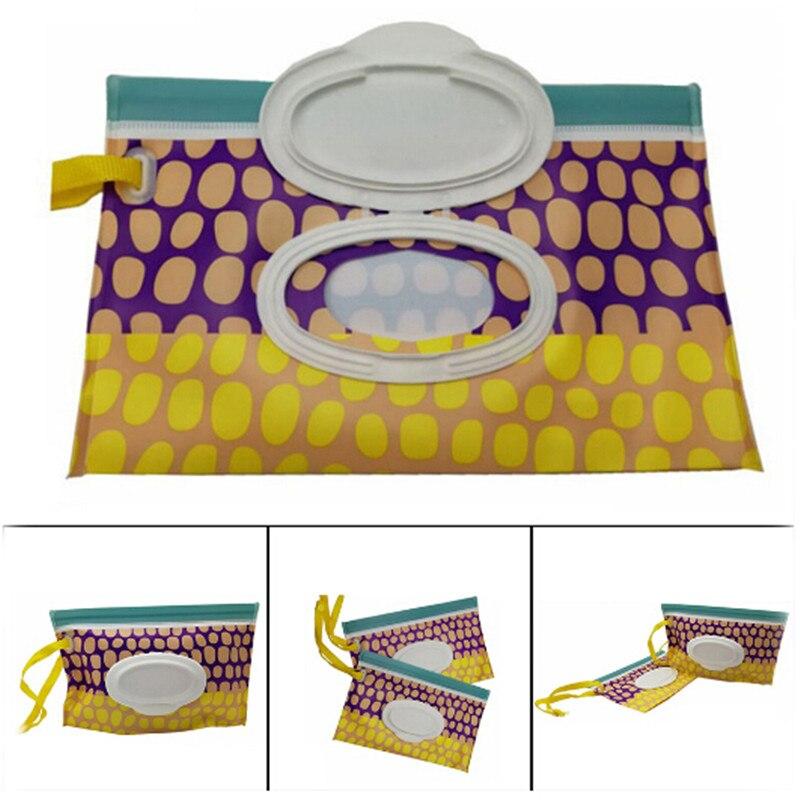Outdoor Travel Baby Newborn Kids Wipe Case Box Wet Wipes Dispenser Box Bag Eco-friendly Wet Paper Towel Box Baby Care