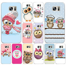 70DF Cute Owl Hearts Lover Christmas Hard Cover Case for Samsung Galaxy S4 S5 Mini S6 S6 S8 S9 edge plus S7 Edge(China)