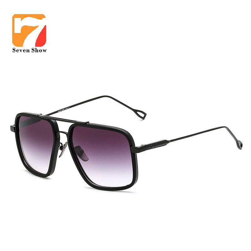 Großen Rahmen Männer Frauen Sonnenbrille Vintage Luxus Marke gold ...