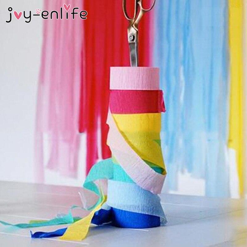 joyenlife metros multicolor rollo de papel crepe flor diy toma de lugares de fiesta de la boda decoracin baby shower cumple