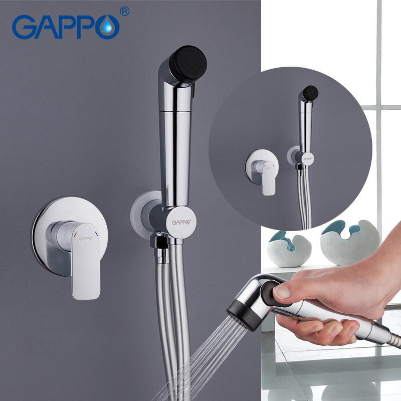 GAPPO white Bidet Faucets shower bidet sprayer handheld shower washer tap mixer wall mount enema shower