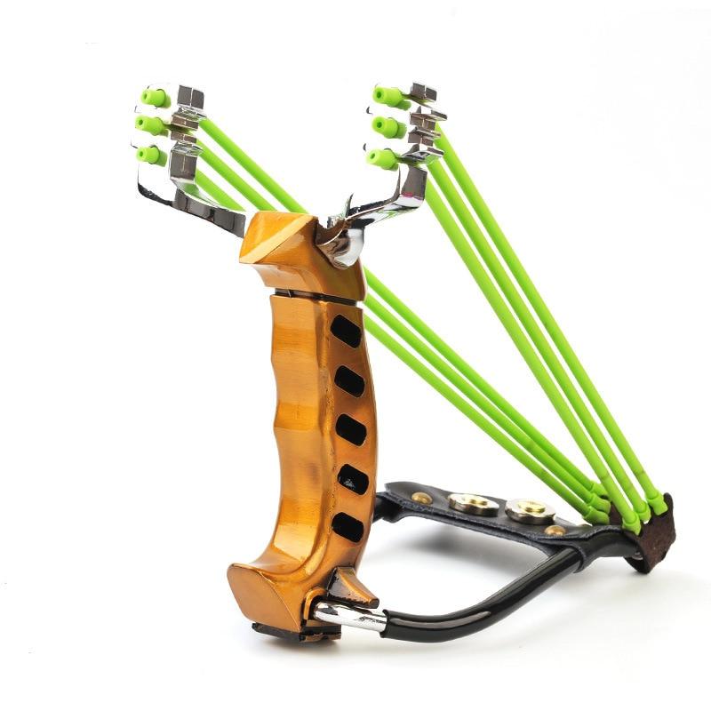 Profissional Dois elástico estilingue tradicional Folding Pulso Sling Shot Catapult Caça Caçador de aço de alta resistência