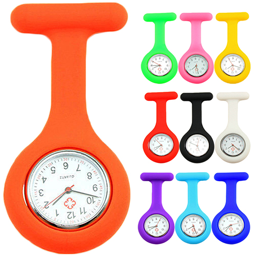 2017New Cute Silicone Nurse Watch Brooch Fob Pocket Tunic Quartz Movement