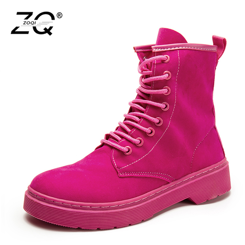 Shoes Woman New Women Boots Lace Up Solid Casual Ankle Boots Martin Round Toe Women Shoes Winter Snow Boots Warm British Style free shipping 2016 new winter women snow boots plus size 34 43 round toe lace up warm sweet pink martin boots boty