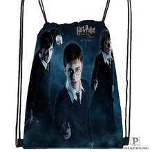 Custom Harry Potter  Drawstring Backpack Bag Cute Daypack Kids Satchel (Black Back) 31x40cm#180612-02-34