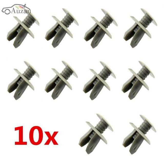 10xGrey Trim Panel Lining Clips Plastic Fastener Light Grey For VW Volkswagen T4 T5 Transporter Eurovan Light