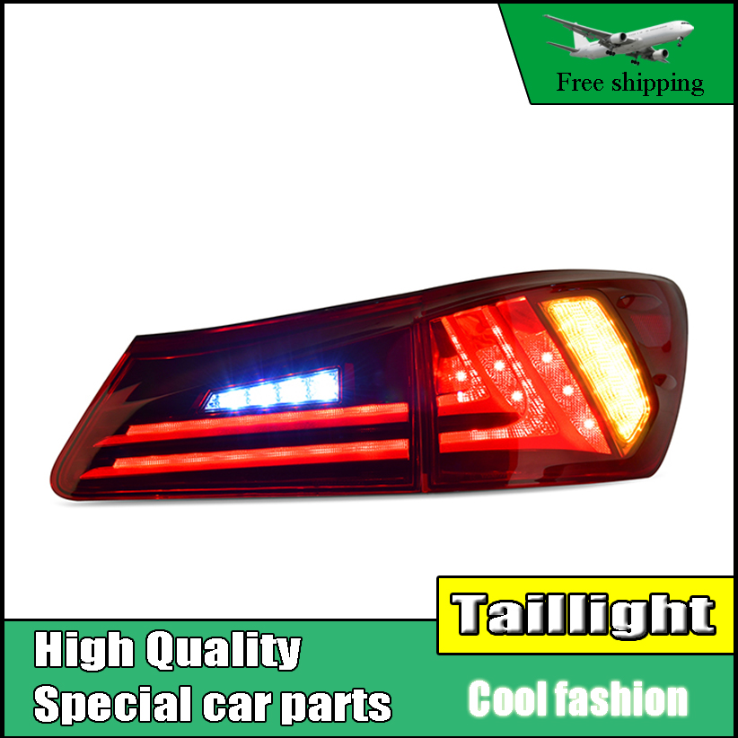 Car Styling Taillights For Lexus IS250 IS300 2006-2012 LED Tail Light Assembly Taillight Rear Lamp Driving+Brake+Reversing LIGHT каталог karanfil
