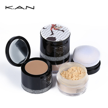 Kan 3 Color Concealer & Loose Powder Concealer Palette Hide Blemish Mineral Powder Foundation Contouring Makeup Setting Powder