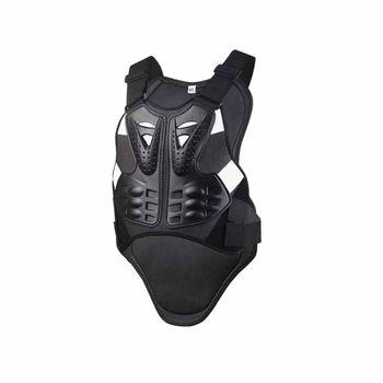 Chaqueta De Cuero Para Hombre | Venta Caliente Chaleco Con Que De Las Carreras De Motocross Armadura De Cuerpo Negro Armadura Motocicleta Protector Chaqueta