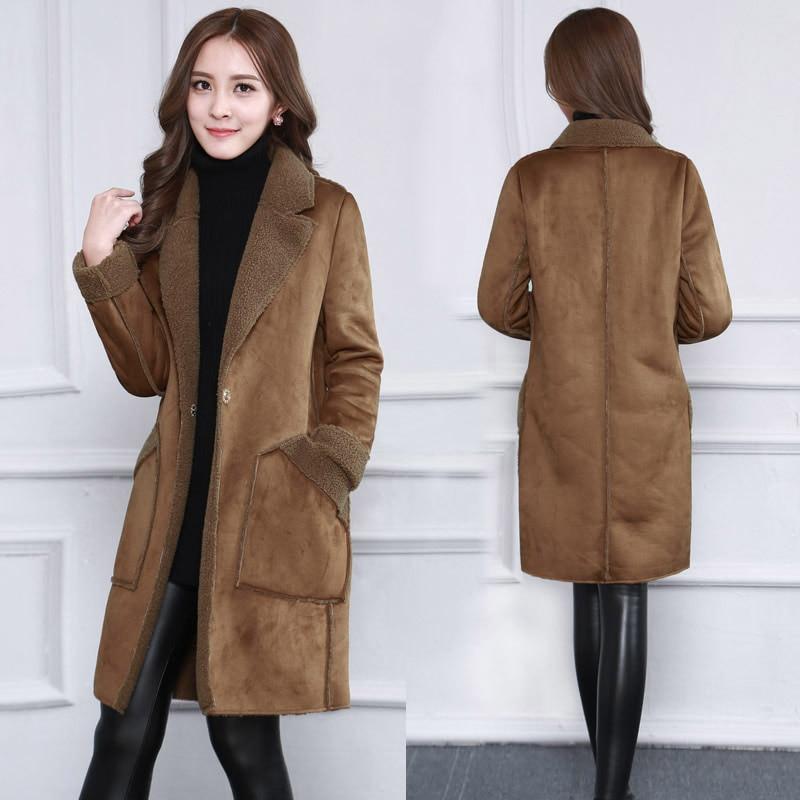 ELF saco 35.8% abrigos de lana de las mujeres de invierno piel roja  bolsillos recto 5bf714a451b7
