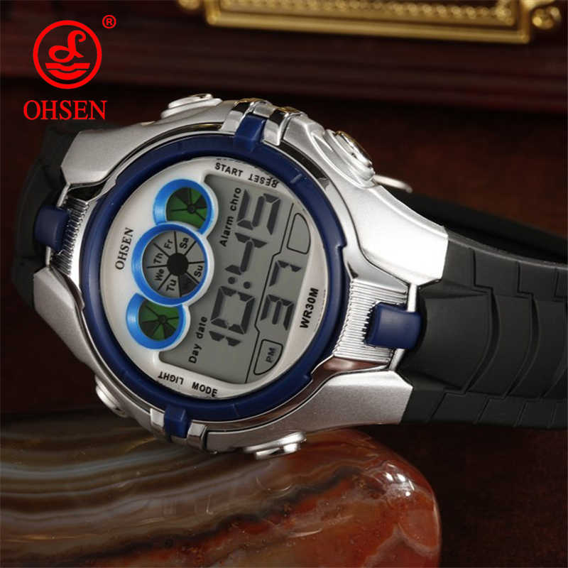 2019 Waterproof Children Kids Boy Watches Digital LED Quartz Alarm Date Sports Electronic Quartz Sport g Watch Shock Wrist Watch