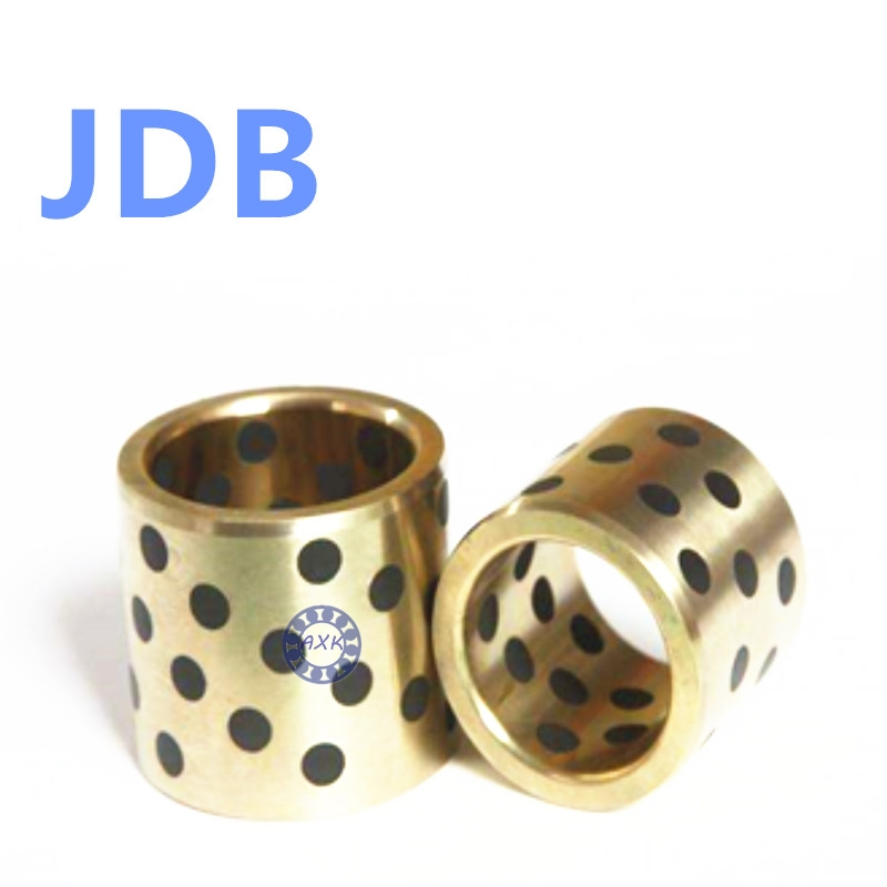Graphite Lubricating Brass Bearing Bushing Sleeve Oilless JDB607570 JDB708550 JDB506040 JDB506050 JDB506060 jdb 406080 copper sleeve the same size of lm12 linear solid inlay graphite self lubricating bearing