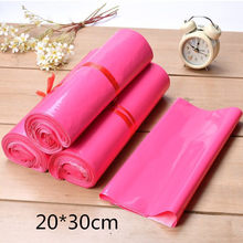 Pink Plastic Post Mail Bags 20*30cm Plastic Postal Mailing Bags Mailing Envelope Postage Bags By Mail Mailer(China)