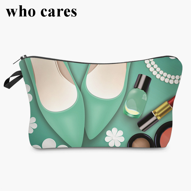 mint 3D printing Cosmetic Bag women makeup bag 2018 Fashion New cosmetic cares trousse de maquillage neceser unicorn 3d printing fashion makeup bag maleta de maquiagem cosmetic bag necessaire bags organizer party neceser maquillaje