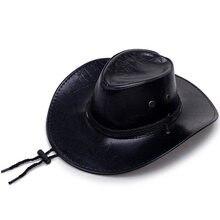Anime gra czerwony martwy odkupienie 2 kapelusz kowbojski przebranie na karnawał Prop kapelusze skóra Unisex zachodni kapelusz kowbojski mężczyźni rycerz kapelusz