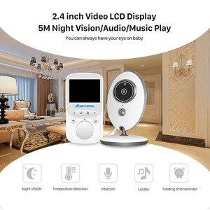 Image 3 - Wireless LCD Audio Video Baby Monitor Radio Nanny Music Intercom IR 24h Portable Baby Camera Baby Walkie Talkie Babysitter VB605