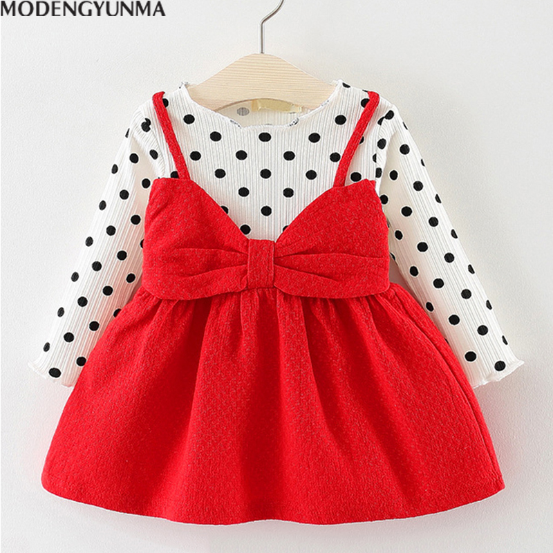 Baby Dress 2018 Autumn Girls Dress Girl Clothes Bow Ball Gown Kids dresses summer children's party dress casual cute cartoon erapinky girl dress kids girls backless dress bow lace ball gown party dresses easter dress for girls 8year old child clothes