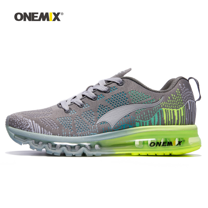 f5dcdca4dc1a2 ONEMIX Men Running Shoes For Women Air Mesh Knit Cushion Trainers ...