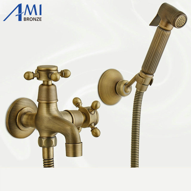 Aliexpress.com : Buy Chrome Polished Brass Spray Gun Bidet Shower ...