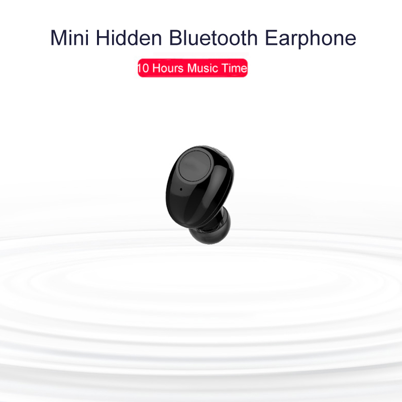 NVAHVA Wireless Bluetooth Earphone 10 Jam Masa Muzik, Bluetooth Earbud Headset Tangan-bebas Untuk iPhone Android Smart Phone Driving