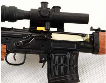 1:4 SVD Sniper Rifle Alloy Metal Mini Military Gun Model Toy Gift for Children Can Not Shoot Collection