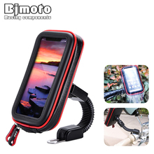 Bjmoto touchable Motorcycle Moto biker Mobile Phone holder Waterproof bag GPS motor Bicycle Rear View Mirror Mount Support Stand