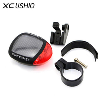 1 PC Solar Power LED Bicycle Lights Bike Rear Tail Lamp Light Bike cycling Safety warning Flashing Light Lamp Red  Fast shipping