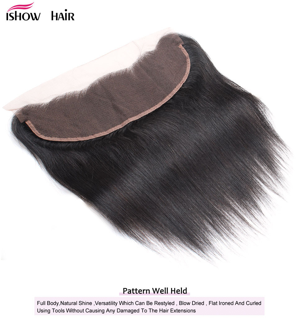 _03  Ishow Hair Ear To Ear Lace Frontal Closure With Bundles Brazilian Straight Human Hair three Bundles With Closure Non Remy four Pcs/lot HTB1U455dN1YBuNjy1zcq6zNcXXaa