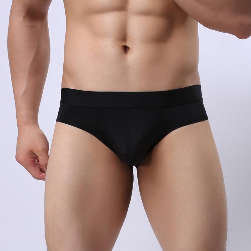 Gay Mens Sexy Briefs Thongs Men Underwear Tights Thin Nylon Fabric Brief For Men Low Waist Solid Open Butt Briefs Thongs