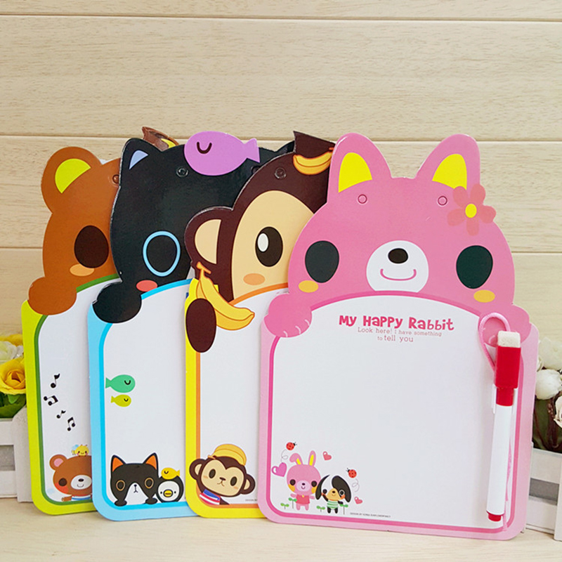 Children's Animal Modeling Whiteboard Children's Writing Graffiti Message Board Cartoon Hanging Sketchpad Color Random