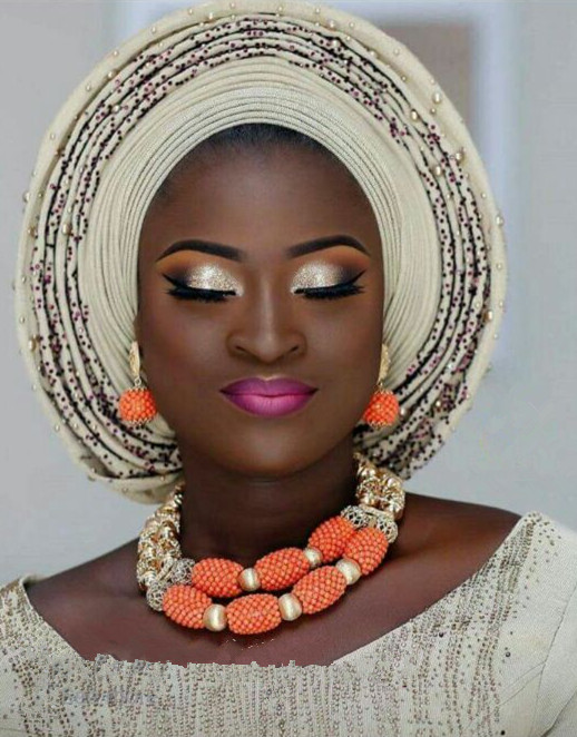 Nigerian Party Fashion Coral Beads Jewelry Sets 2017