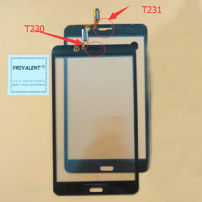100% Test Black / White For Samsung Galaxy Tab 4 SM-T230 T230 SM-T231 T231 Front Touch Screen Digitizer Panel Glass Sensor original new touch screen digitizer touch panel touchscreen for samsung galaxy star advance sm g350e g350e black or white