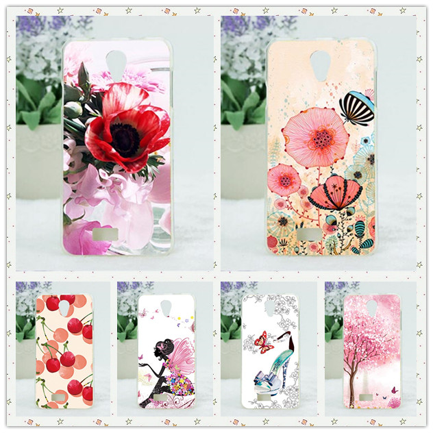 Protector Skin Back TPU Cover For Fly IQ4416 Era Life 5 Case Beautiful Flower Print Luxury 3D Design Cover For Fly IQ 4416 case