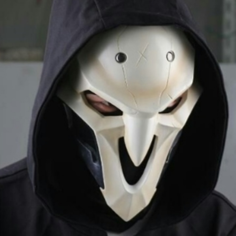 High Quality Overwatch Reaper Adult 1:1 Cosplay Mask Helmet Cos Props Mens Halloween Accessories