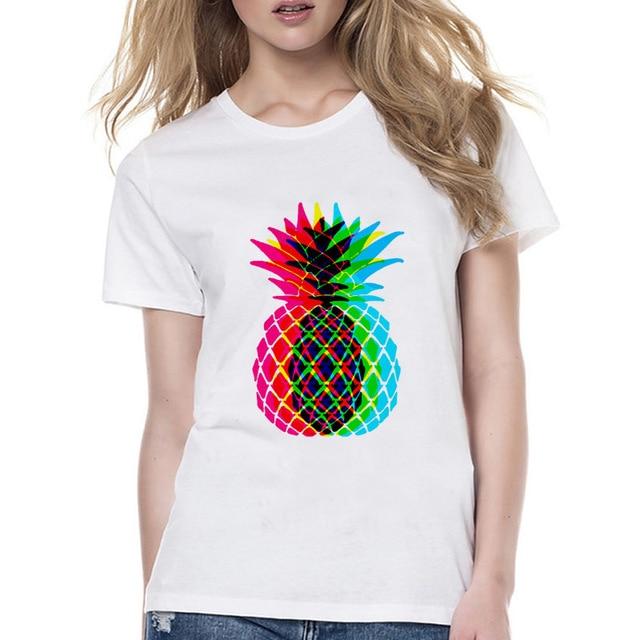 Ananas Disegno Di Estate T Shirt Donna Harajuku Stampa Kawaii